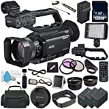 ElectronicsBasket Sony PXW-Z90V 4K HDR XDCAM with Fast Hybrid AF + NP-FV70 Replacement Lithium Ion Battery + External Rapid Charger + 128GB SDXC Class 10 Memory Card + 62mm 3 Piece Filter Kit Bundle