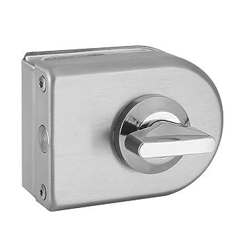 Fdit Cerradura de Puerta Inclinable de Acero Inoxidable Semicircular de Puerta de Cristal Frameless para Uso Casero Cuarto Baño Hotel Socialme-EU: ...