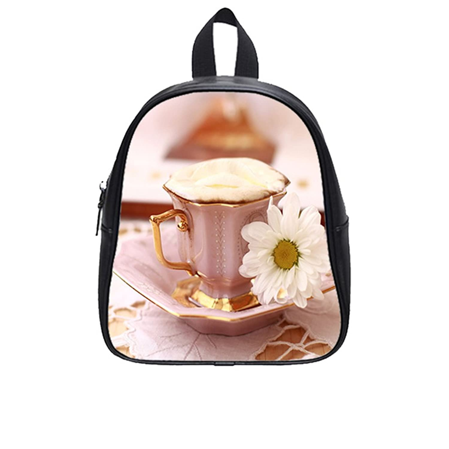 Custom Cup PU Leather Kids School Bag (Medium)