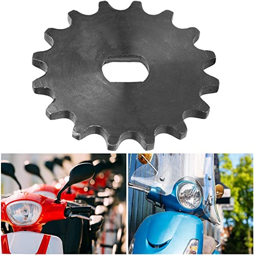 Alomejor Chain Sprocket Gear Electric Scooter Motor Engine 16 Tooth Sprocket Metal Chain Wheel for 12X17mm