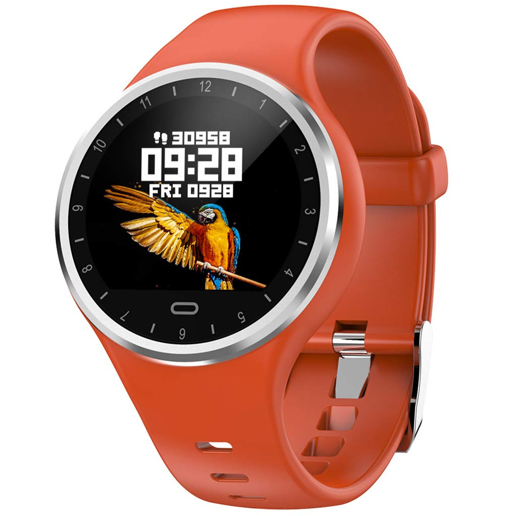 GXOK Smart Watch for Android and iOS,Sports Fitness Calorie Wristband Wear Smart Watch for Men Women (Orange) by GXOK (Image #2)