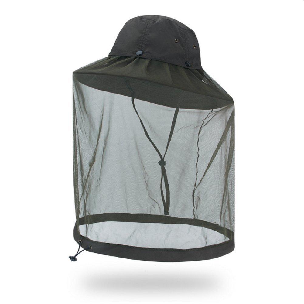 Wanfei Outdoor Anti Mosquito Sombrero Busch Fischer sombrero UPF40 + Sun Hat Sombrero Protector de Cabeza para Apicultor sombrero Apicultura cara máscara protección de la cara caqui China