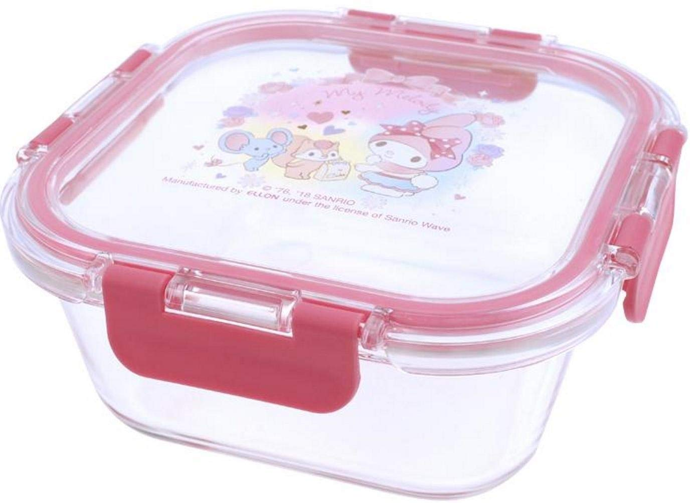 My Melody Premium LEAD FREE Glass Meal Prep Container Seal Lunch Box Microwave Oven Freezer Dishwasher Safe 800ml