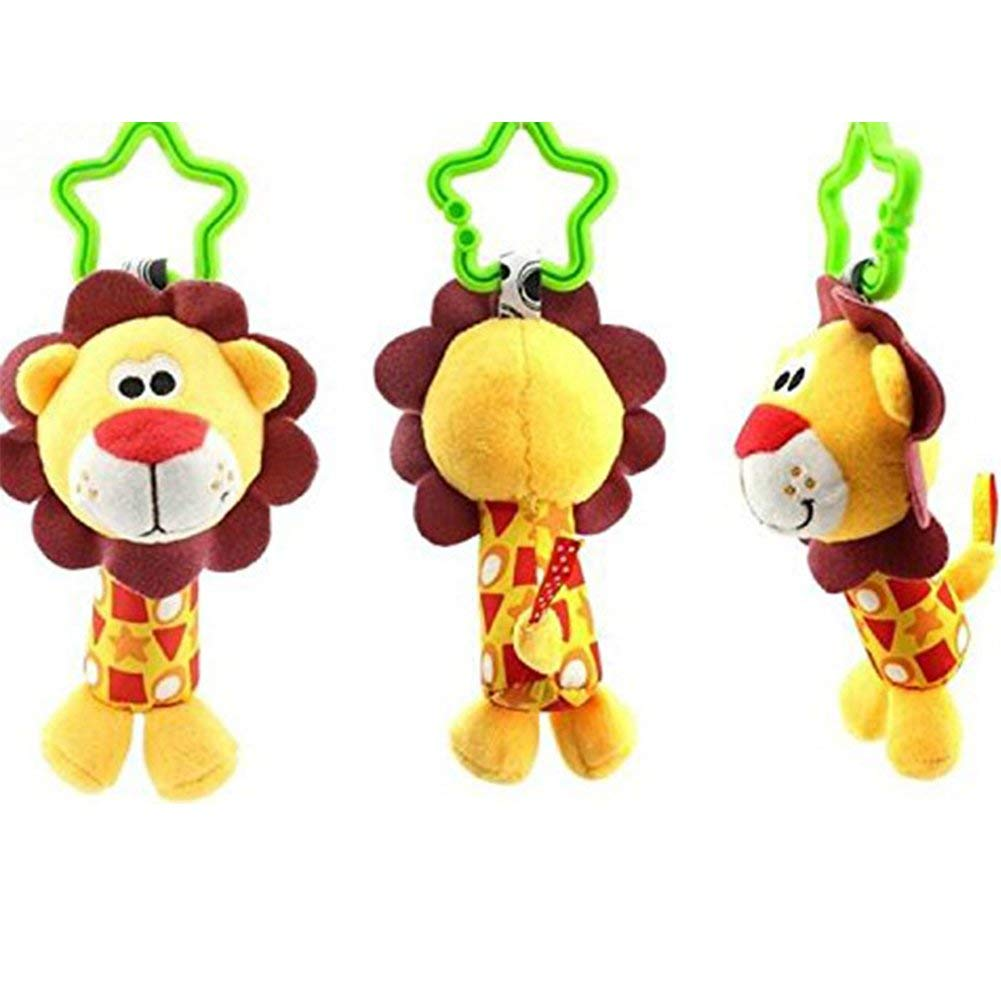 Yevison Infant Baby Rattle Toys, Kids Stroller Hanging Bell, Newborn Baby Car Crib Stroller Handbells Toys Washable Squeaker Car Toys Lion Durable and Useful by Yevison (Image #3)