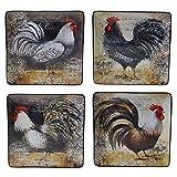 Certified International 57475SET/4 Vintage Rooster Dinner Plates (Set of 4), 10.25