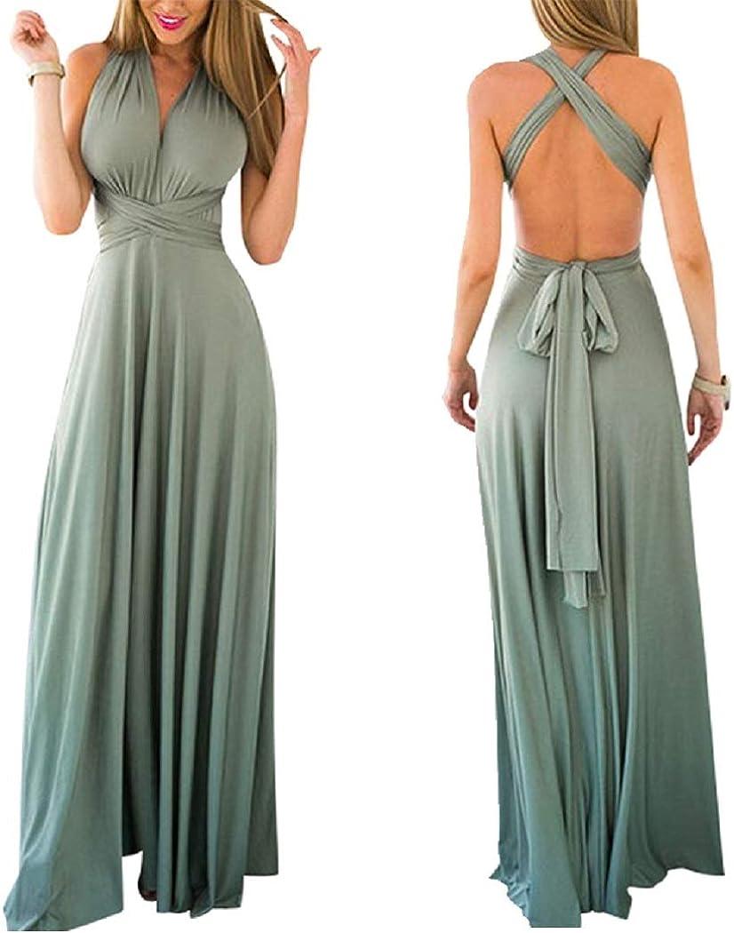 Abendkleid Kleid lang Maxikleid 34-48 viele Farben Wickelkleid lang Infinity Kleid inklusive Bandeau Top Brautjungfernkleid Gr 70 Verschiedene Wickelarten Brautkleid