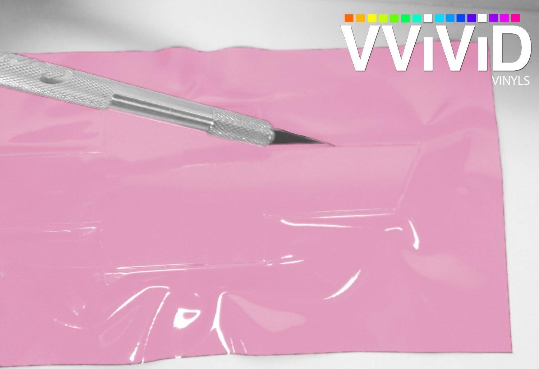 11.8 Inch x 4 Inch 2 Rolls VViViD XPO Gloss Pink Chevy Bowtie Logo Wrap Kit