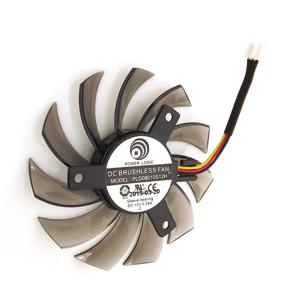 PLD08010S12H 12V 0.25A 75mm 3 Pin Replacement Video Card Cooling Fan Graphics Card Fan