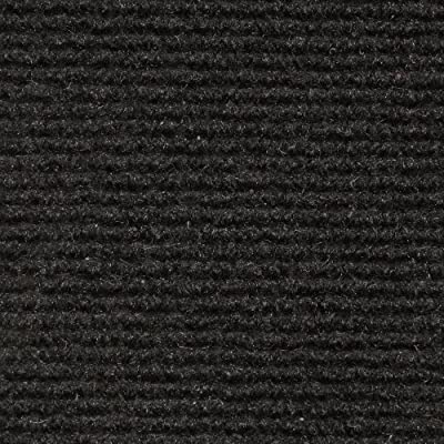 Indoor/Outdoor Carpet with Rubber Marine Backing - Several Sizes Available - Carpet Flooring for Patio, Porch, Deck, Boat, Basement or Garage - Black