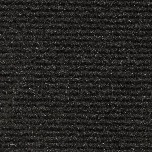 - House, Home and More Indoor Outdoor Carpet with Rubber Marine Backing - Black - 6 Feet x 10 Feet