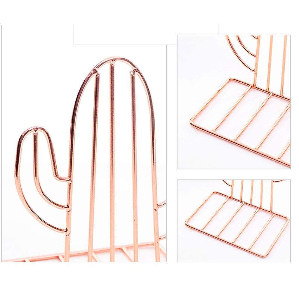 Color : Gold, Dimensione : A Xiix Reggilibri Reggilibri in Metallo a Forma di Creativo Supporto for Libri Supporto for scrivania Organizer Portaoggetti Ripiano Oro Creativo fermalibri