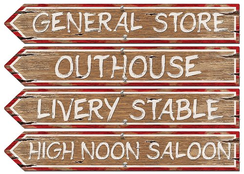 (Western Sign Cutouts (4/Pkg))