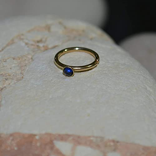 Amazon Com 2mm Sapphire Nose Ring Gold Nose Piercing Tragus