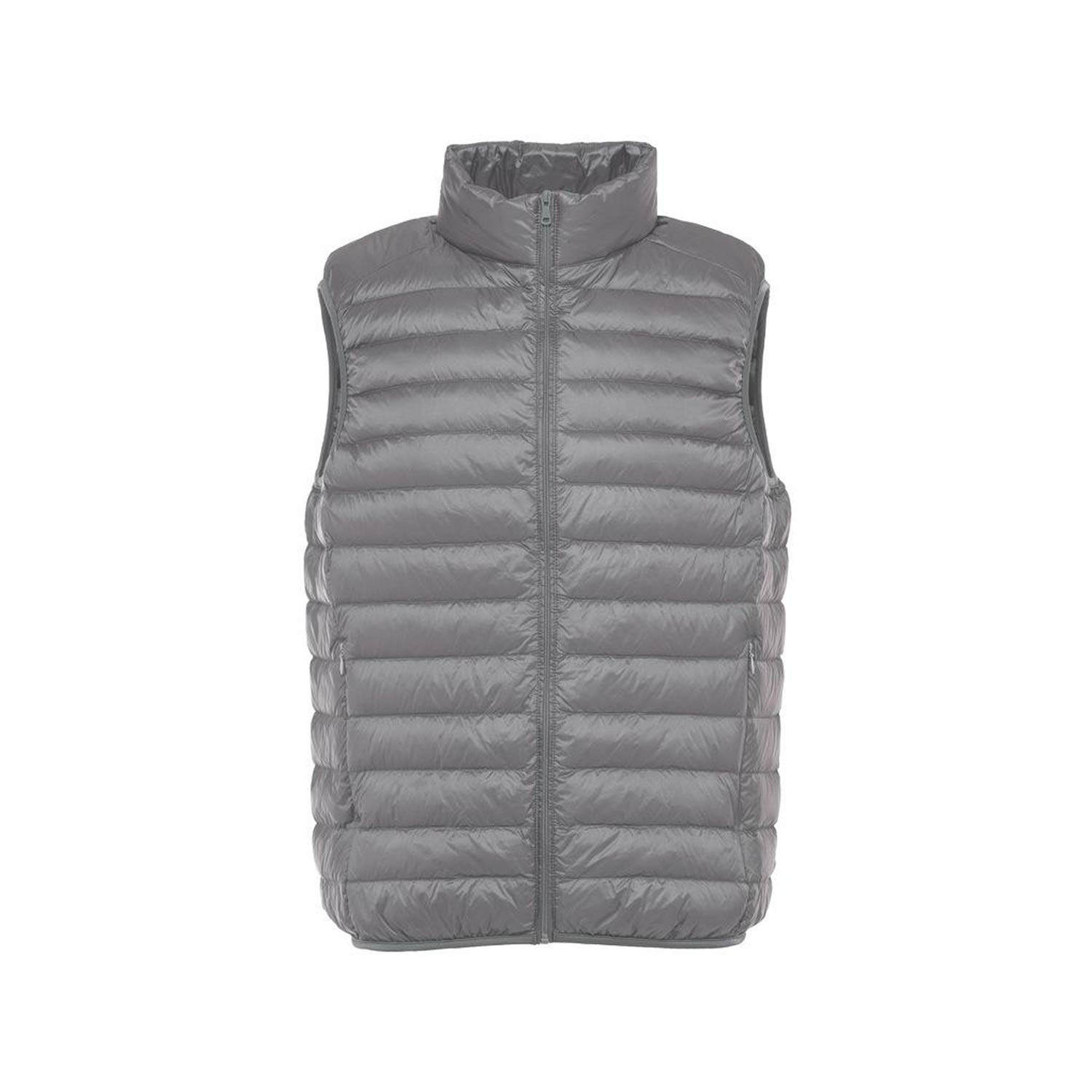 Sleeveless Jacket Men Ultra Light White Duck Down Vest Slim Multi Color Windproof Warm Waistcoat