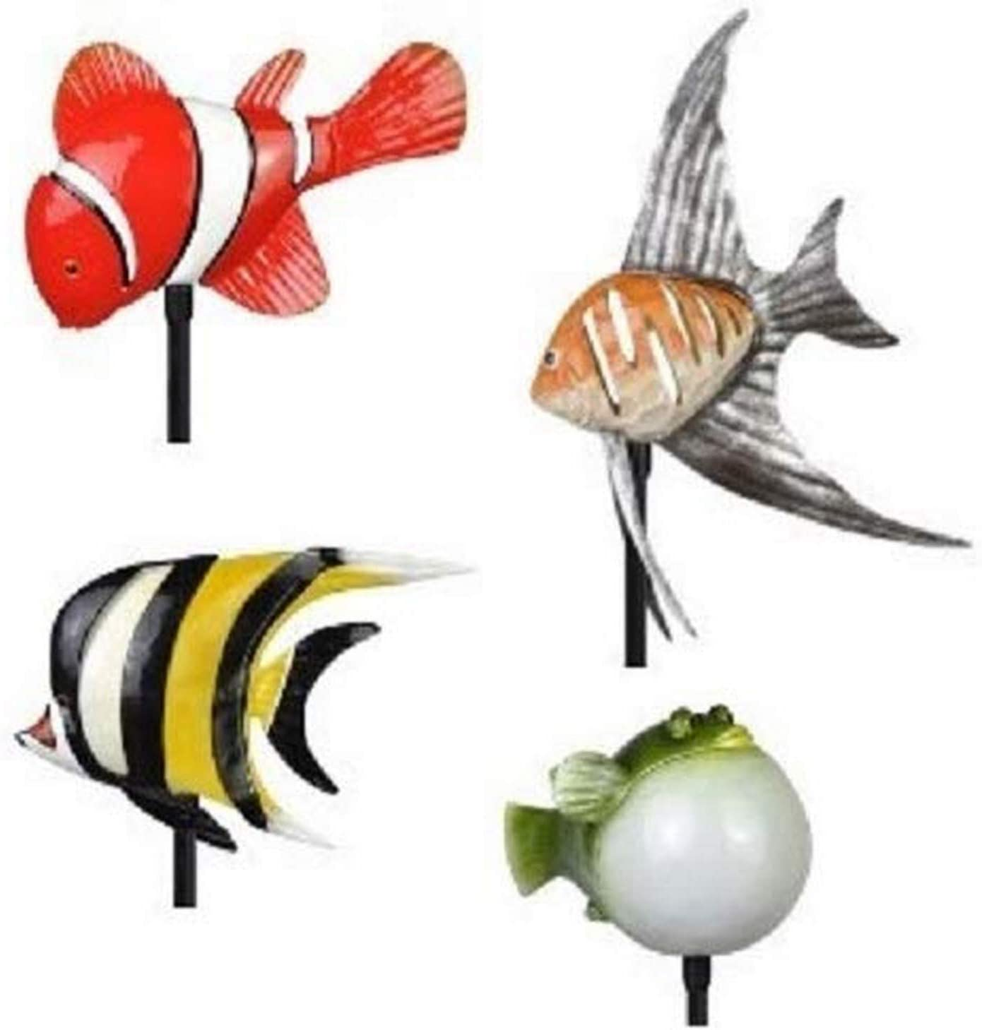 Moonrays 96308 Tropical Fish Friends Stake Lights, Multi-Color