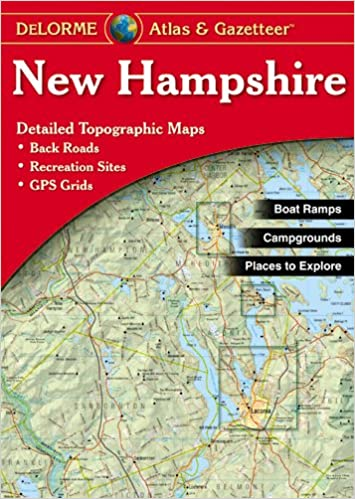 Topographic Map Of New England.New Hampshire Atlas And Gazetteer Topographic Maps Of The Delorme