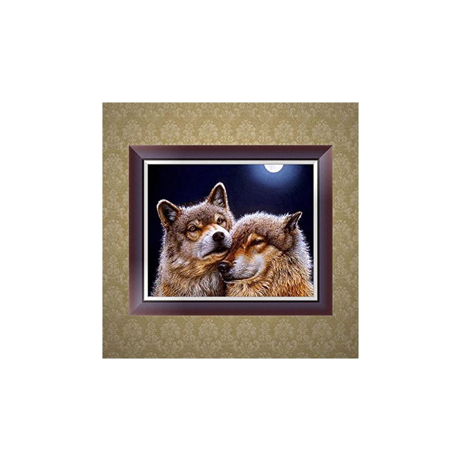 SCASTOE DIY 5D Animal Diamond Embroidery Painting Cross Stitch Kit Home Decor