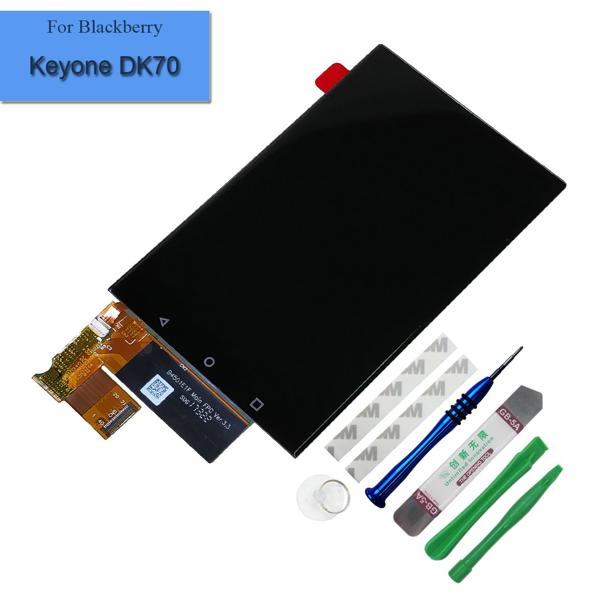 for BlackBerry Keyone DK70 DTEK70 BBB100-1 BBB100-2 BBB100-3 BBB100-4 BBB100-6 Assembly LCD Display Touch Screen Digitizer Replacement with Tools