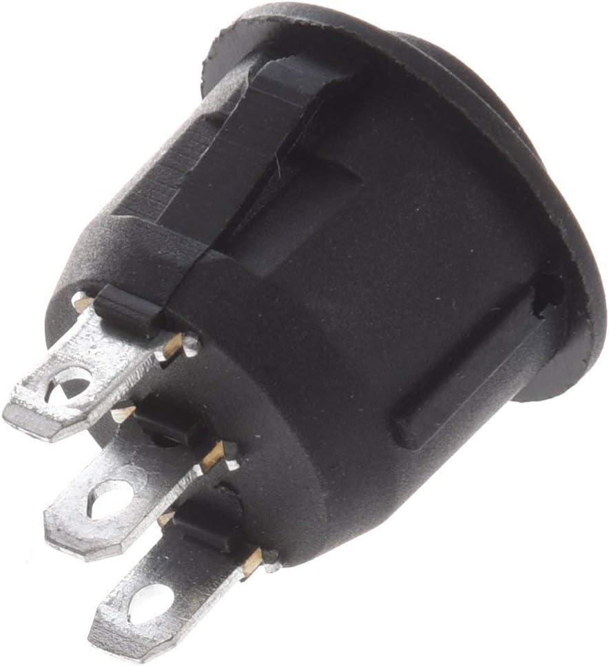 Interruptor SODIAL R 10pzs x Encendido // apagado //encendido 3 posiciones SPDT Interruptor basculante de barco redondo 6A//250V 10A//125V AC