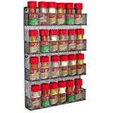 Spice Rack Country Rustic Wire Style Wall Mounted 4 Tier Shelf