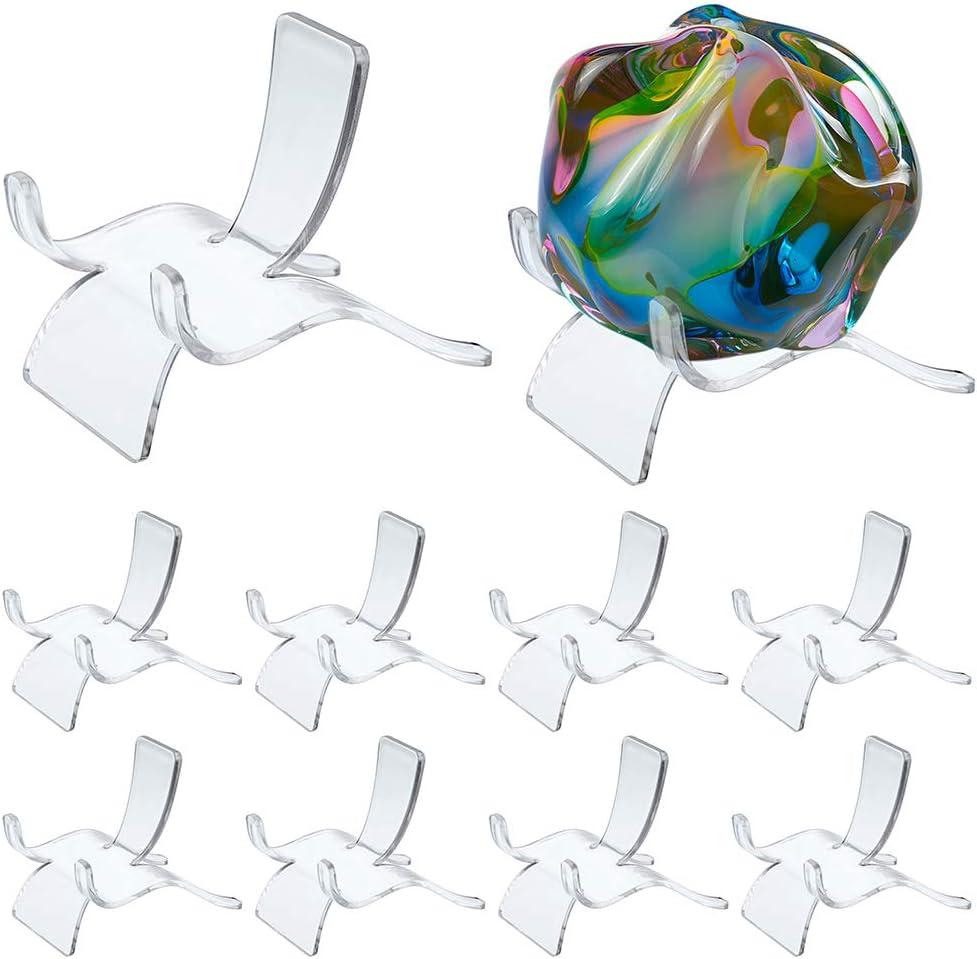 BSTKEY - Soporte para caballete de 6 cm de acrílico transparente para geodas de roca, ágata mineral, fósil, coral, taburete, soporte para teléfono móvil
