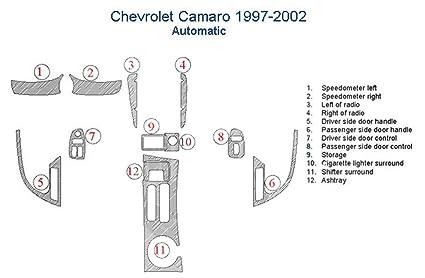 61bH1tAZ wL._SX425_ amazon com chevrolet camaro dash trim kit, automatic transmission
