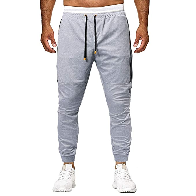 Btruely Pantalones Largos de Hombre Deportivos Pantalones de ...