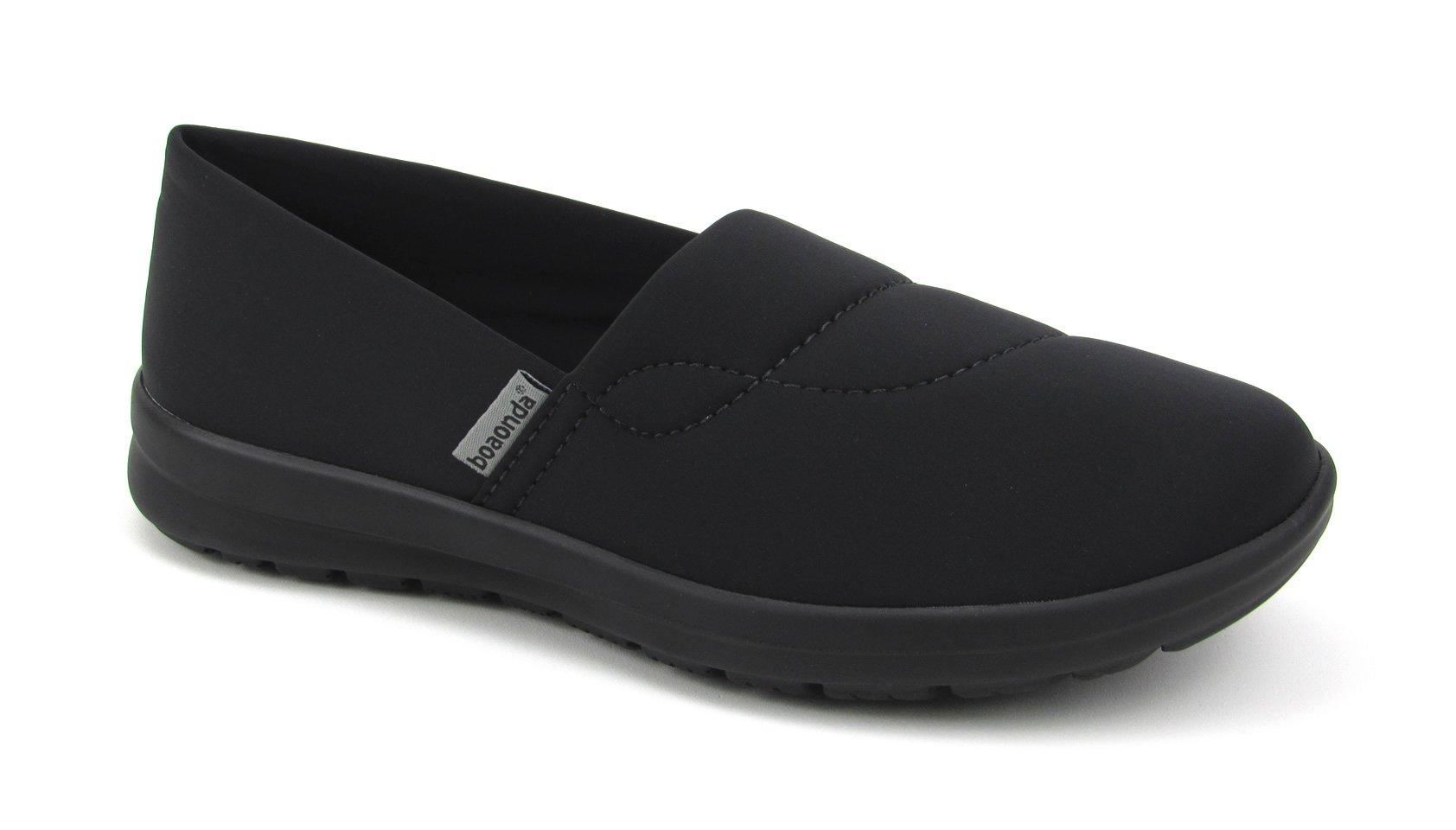 Women's Cute Memory Foam Nursing Shoes - Printed - Florence Ocean (7, Black)