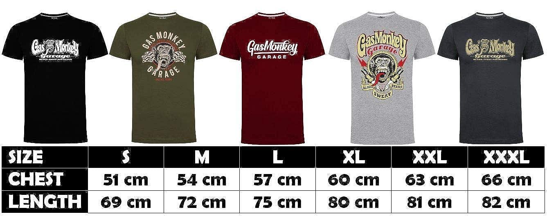 Gas Monkey Garage T-Shirt Distressed OG Logo: Amazon.es: Ropa y ...