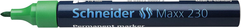 Schneider Maxx 230 - Marcadores permanentes, punta redonda, color verde