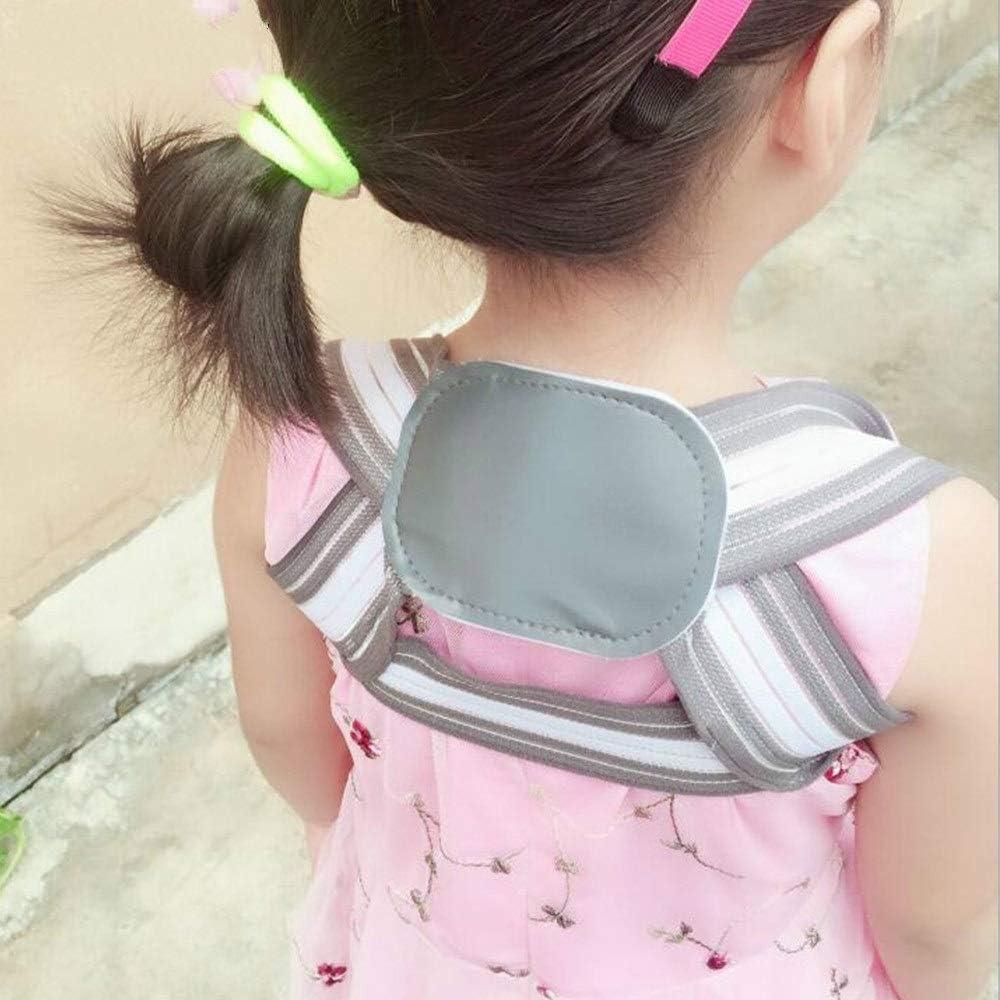 Corrección Joroba Hlk Niños Adultos Ajustable magnética del Hombro Corrector de Postura Espalda Dolor de Ayuda ortopédica del corsé de la Columna Vertebral Apoyo de la Ayuda de la Correa (S)