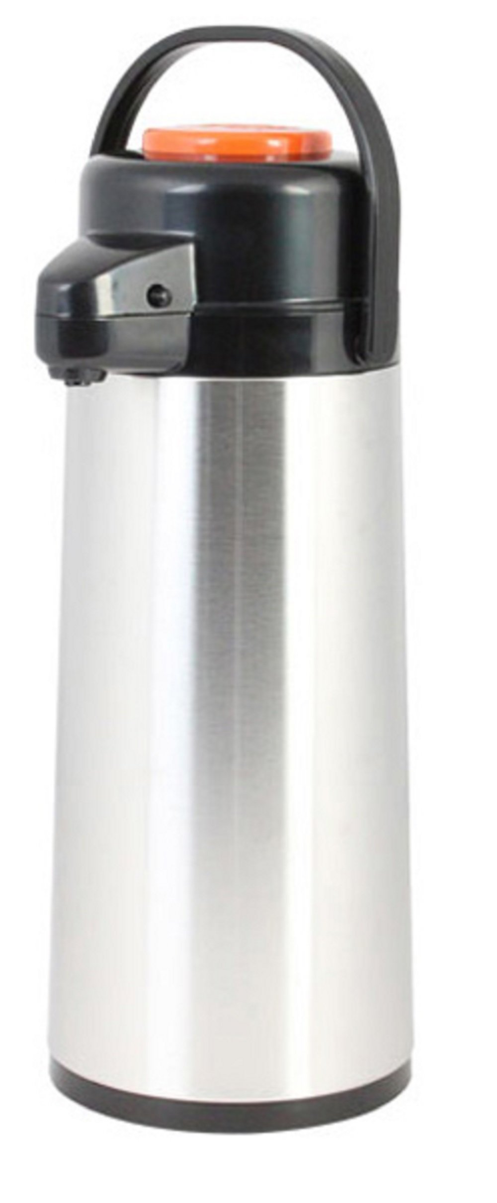 Thunder Group ASPG030D, 3 Liters/101 Ounces Ounces Glass Lined Airpot, Hot Coffee Dispenser, Stainless Steel Decaf Push Button Vacuum Server by Thunder Group (Image #1)