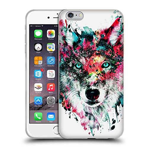 Officiel Riza Peker Loup Animaux Étui Coque en Gel molle pour Apple iPhone 6 Plus / 6s Plus