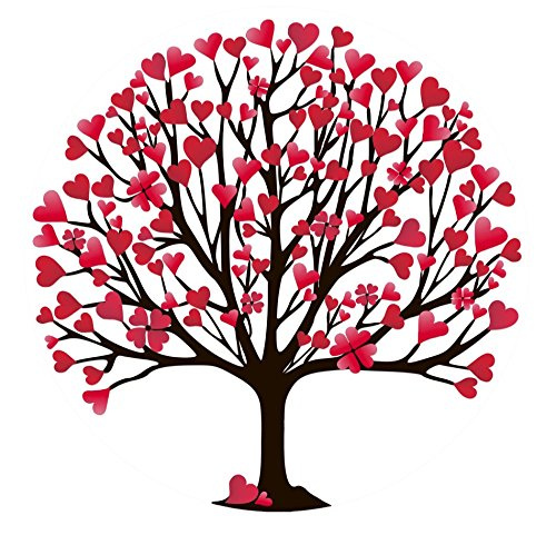 Screen Door Magnets - That ALWAYS STAY UP using our Exclusive Twist, Click and LOCK Design - Keep People and Pets From Walking Into Screens - 2 Matching Magnets (Valentine's Day Heart Tree)