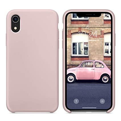 new product 7ad17 4660f SURPHY Silicone Case for iPhone XR, Slim Liquid Silicone Soft Rubber  Protective Phone Case Cover (with Soft Microfiber Lining) Compatible with  iPhone ...