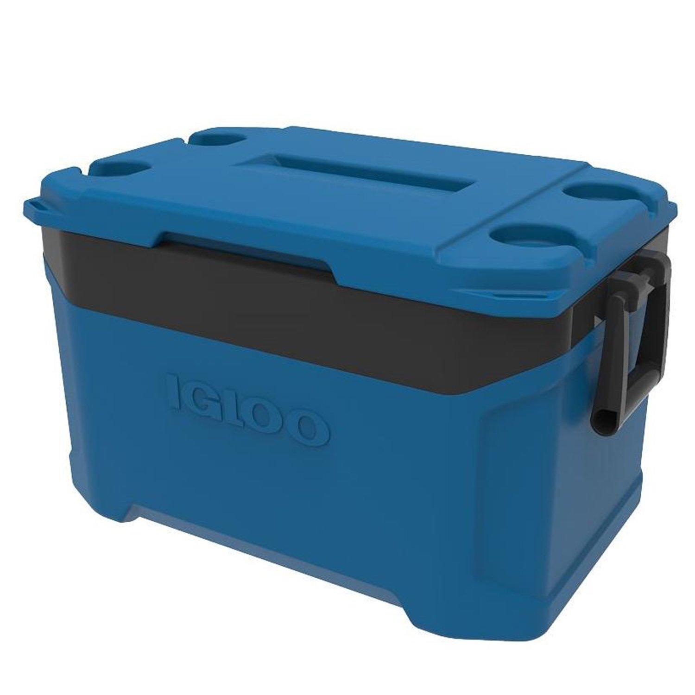 Igloo 00049735 Latitude 50 Quart Cooler - Fiesta Blue/Obsidian Gray, 24.9 x 15 x 14.7