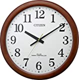 リズム時計工業(Rhythm) 掛け時計 茶色 Φ53.4x6.1cm 電波時計 静か 連続秒針 木枠 大型 時計 石膏ボード対応 8MY548-006