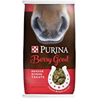 Purina   Berry Good - Rasberry Flavored Senior Horse Treats   Added Biotin for Hoof Health - 15 Pound (15 lb) Bag