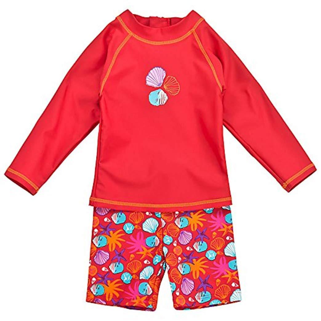 Landora Baby- Kleinkinder-Badebekleidung Einteiler mit UV-Schutz 50 und Oeko-Tex 100 Zertifizierung in rot oder violett