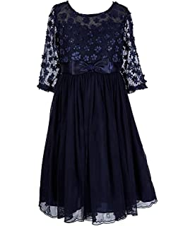 8674dab7443b Bonnie Jean Big Girls 7-16 Embellished Bonaz Tulle Illusions Yoke Party  Dress