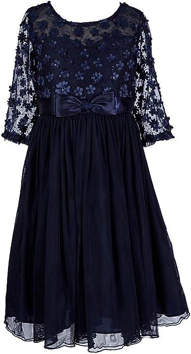58fdf73ca86 Bonnie Jean Big Girls 7-16 Embellished Bonaz Tulle Illusions Yoke Party  Dress