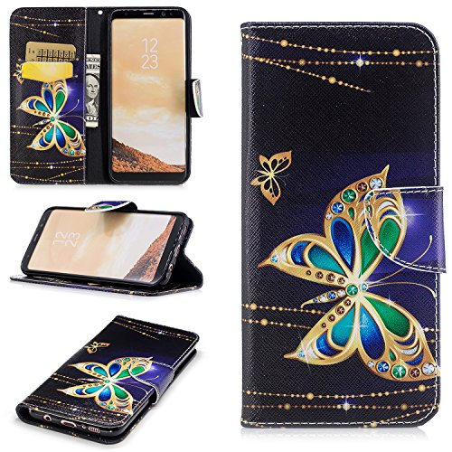 Galaxy S8 Plus Wallet Case,Jessica Premium Slim PU Leather Flip Cover[Stand Feature] Magnetic Closure?Shockproof Protective with Card Slots and Money …