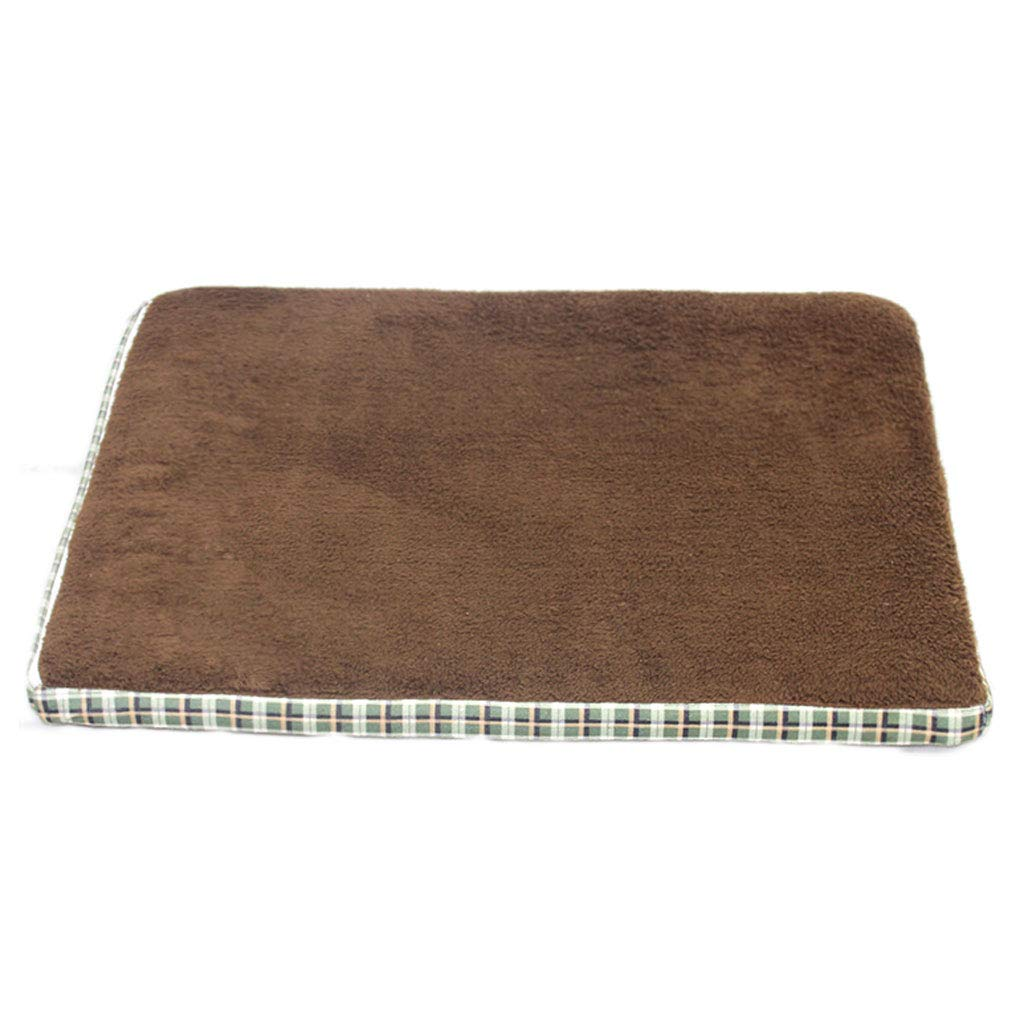 B Small B Small Exquisite Dog Bed bluee Brown Doghouse Sofa Kennel Square Pillow Large Dog Cat Room Mattress Pet Supplies (color   B, Size   S)