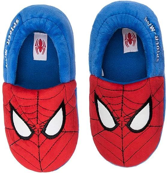 Marvel-Beau Chaussons Pantoufles Spiderman-Rouge-gar/çon