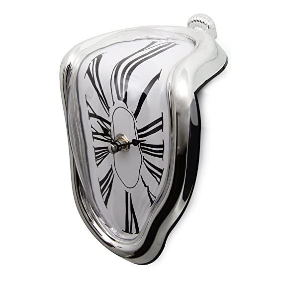 Amazon.com: liveleafa Melting Clock Home Art Design Large Hanging Wall Clocks Silent Clock Home Decor Fashion Wall Watches Relojes Decoration: Home & ...