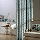 Blackout Lined Curtains Teal Blue - Anady Teal Linen Cotton Curtains Living Room Darkening Drapes Grommet 100 inch Long(Customized Available)