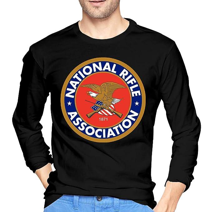 ea4e719d Amazon.com: Men's NRA National Rifle Association Long Sleeve T-Shirt Retro  Cotton Long Sleeve T-Shirt Sport Shirt: Clothing