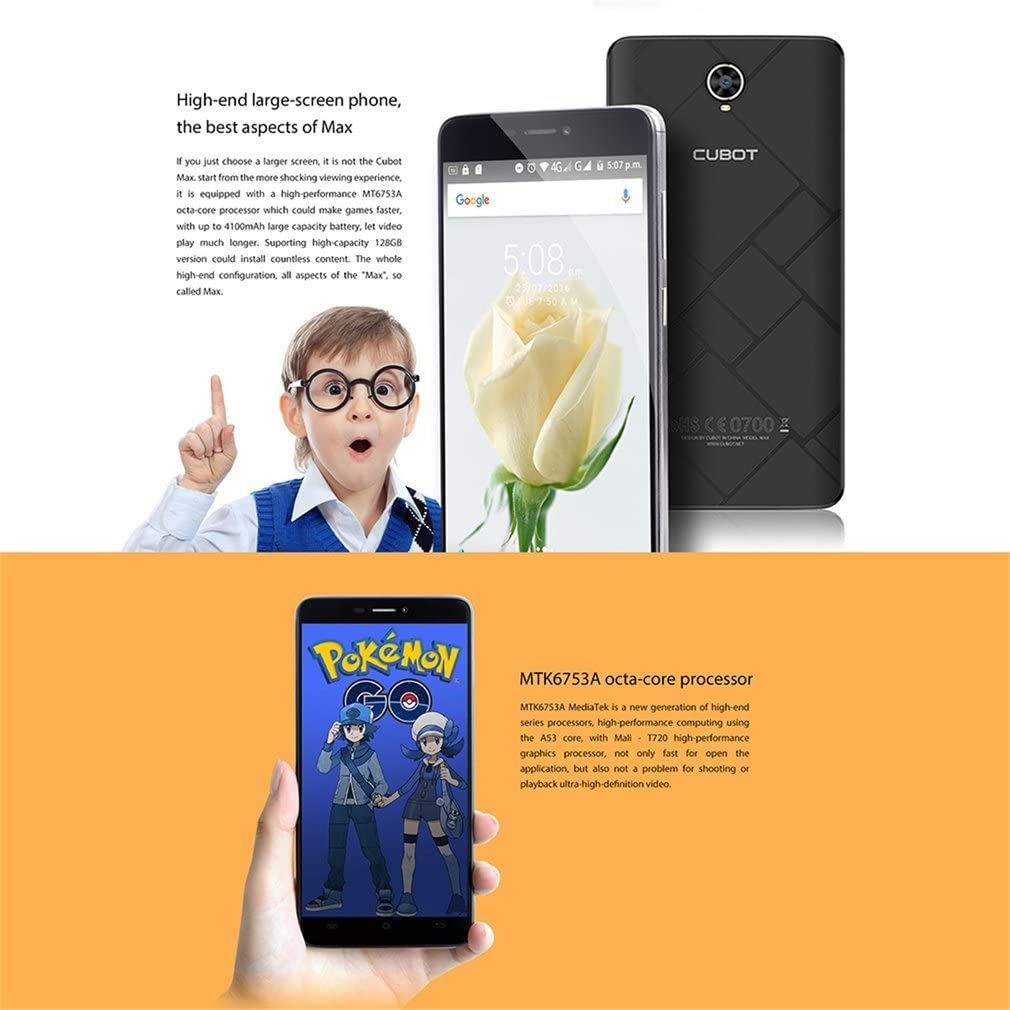 Cubot Max 4 G Smartphone, 6.0 pulgadas HD de pantalla táctil ...