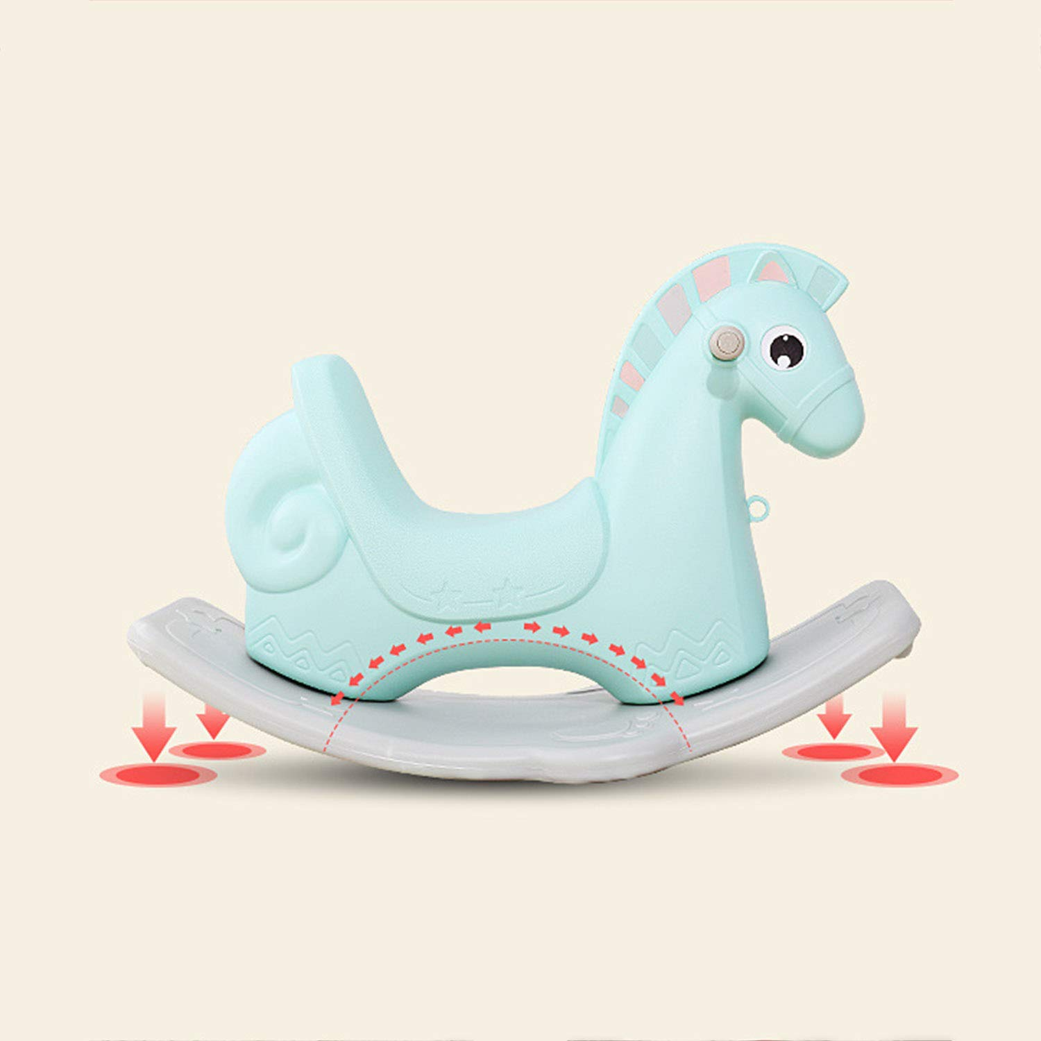 AIBAB Baby Rocking Horse Tumbler Baby Comfort Chair Thick Plastic Multifunction Nursery Boy Girl Toy Gift by AIBAB (Image #3)