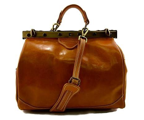 ShopSmart Borsa Donna Doctor Bag Vera Pelle Medico Handbag